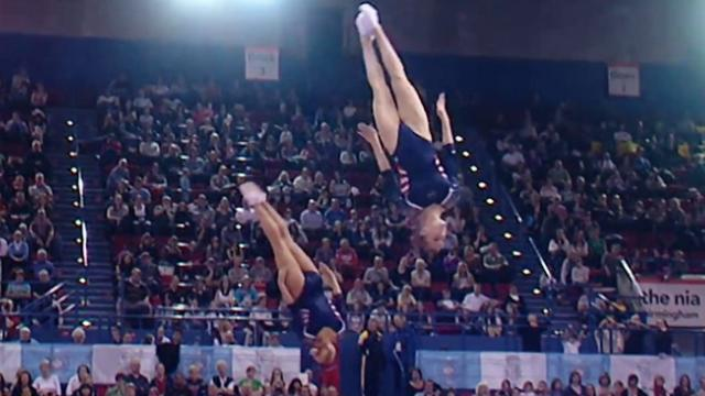 Synchronized Trampolining Is The Most Jaw-Dropping Sport You've Never Heard Of.