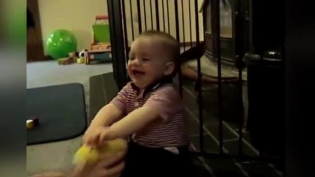 Babys reaction to classic childhood game will definitely