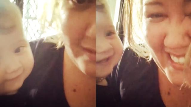 Cute Baby Gets the Hiccups at the Same Time as Her Mom - Storyful Video