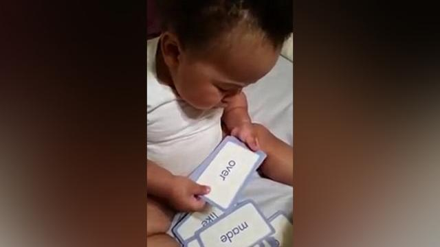 19-Month-Old Baby Learned More Than 300 Words And Tagged As A (Baby Reading Genius)