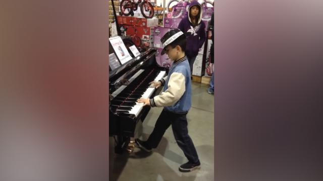 Boy Steps Up To Piano In Middle Of Toy Store. Seconds Later, My Jaw Was On The Floor!