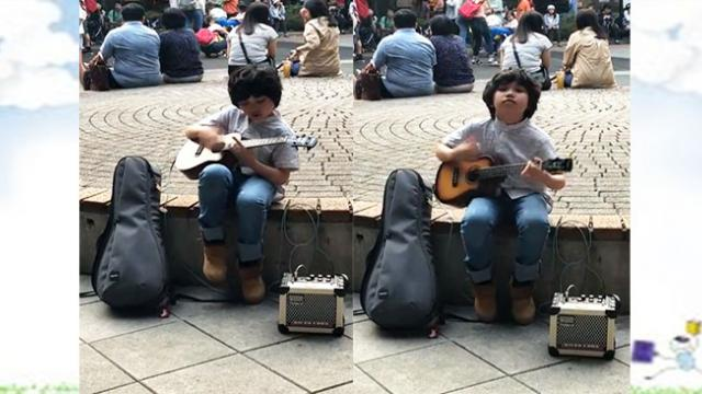 "Talented Boy Plays ""Classical Gas"" On Ukulele Gets The Attention of Passersby"