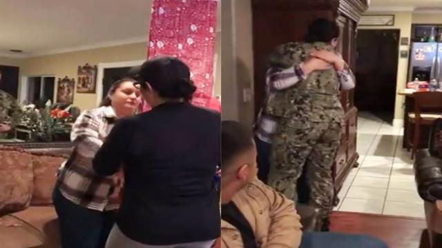 Military Family Gift-Wraps Plain Mirror For Mom, But The Reflection Has Her Sobbing.