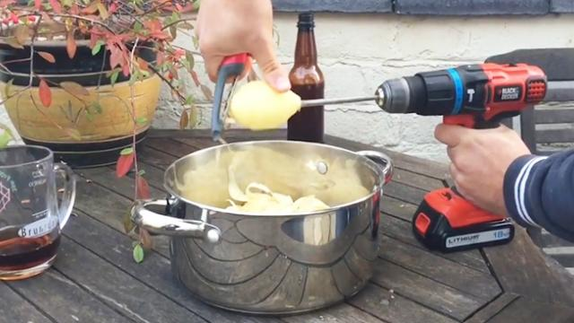 Spudding inventors! Youtubers come up with a clever way to peel your potatoes