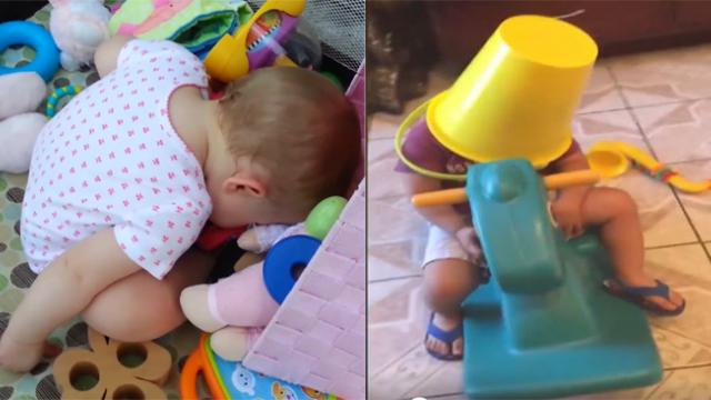 Can you resist a 76-million-viewer-heartthrob video Babies fall asleep at anyplace, anywhere,anytime