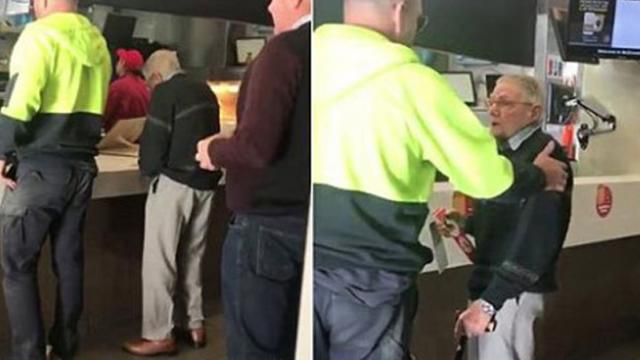 Hes down on his last 20 Heart-warming moment selfless tradesman pays for elderly mans McDonald