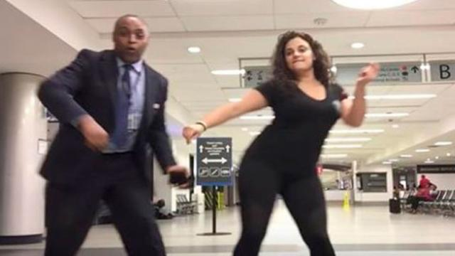 Woman Is Stuck At Airport Overnight Grabs Strangers To Dance  Makes Spectacular Video