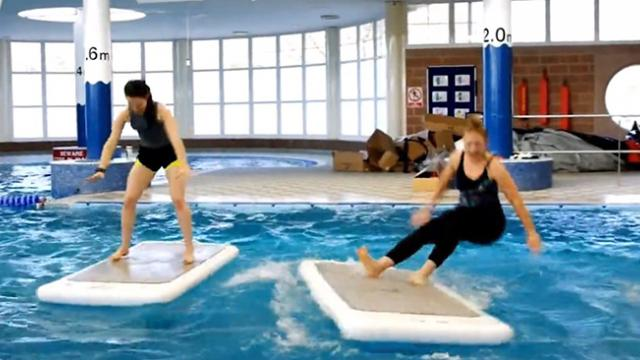 Incredible aerobics class that you perform while floating on top of the water