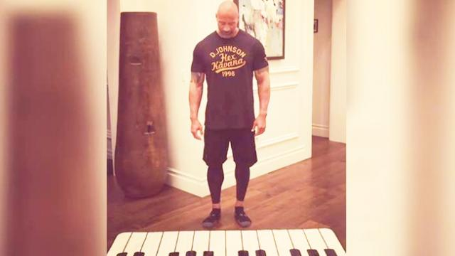 Dwayne 'The Rock' Johnson fulfils lifelong dream of playing his favourite song on the piano