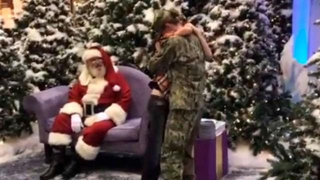 Back In Mom's Arms Heartwarming Moment A Military Mother Tearfully Surprises Her Son With a Little H