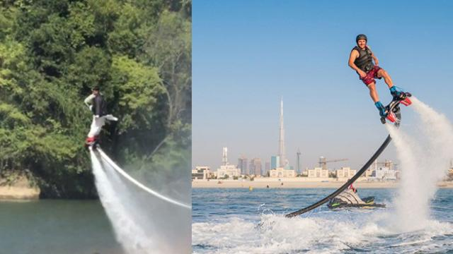 Video 'Taoist' plays a thrilling flyboard game, flying as fairy in the air