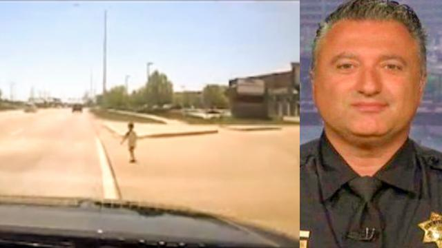 Toddler Wandering Dangerously Close to Highway Rescued by Quick-thinking Cop