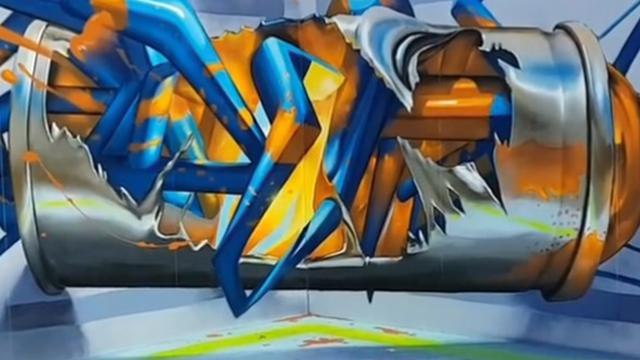 A Street Artist Creates 3D Graffiti That Blurs the Line Between Art and Reality, and It's More Than