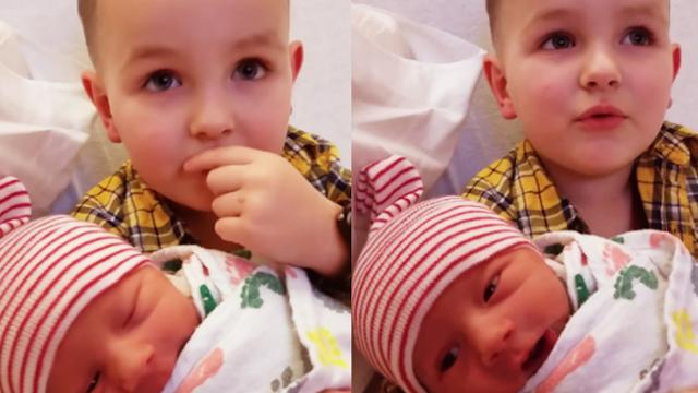 Meeting Baby Brother For First Time