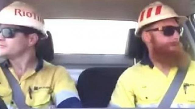 28Australian miners sing a song of Whitney Houston