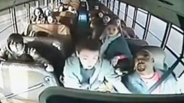 The bus driver suddenly fainted the quick action of two boys saved the whole class