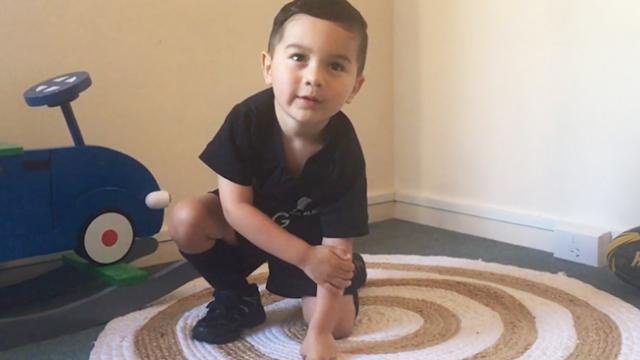 Is this little boy the biggest all blacks fan-