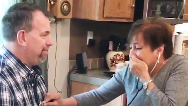 'I could feel him again': Tearjerking moment a mother hears her son's heart beat in another man's ch