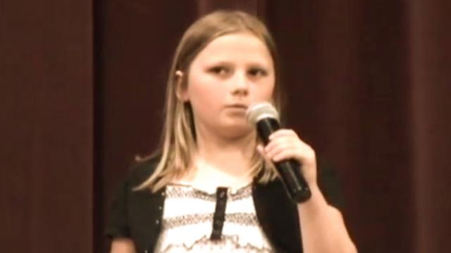 10-year old girl blows crowd away with her version of Whitney Houston hit