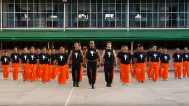 Prisons flash mobMichel Jacksons song(its realy nice)