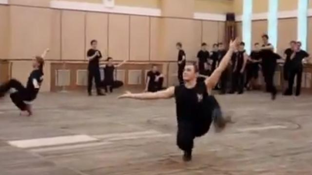 Dancers Step Out For Their Routine. But Keep Your Eyes On The Man In Red Boots …UNREAL!!