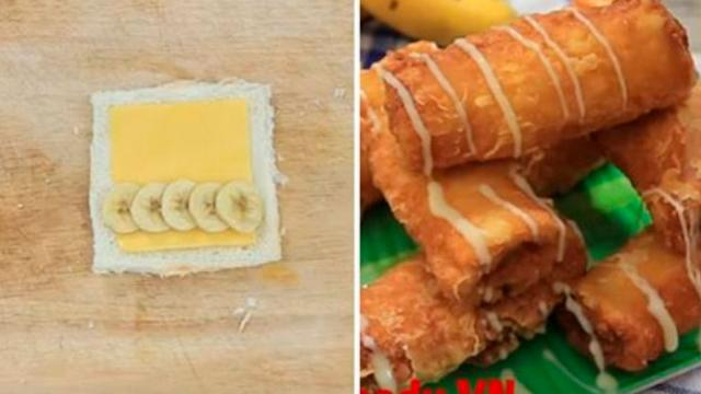 The Way to Make the Delicious Deep Fried Banana Bread With Cheese