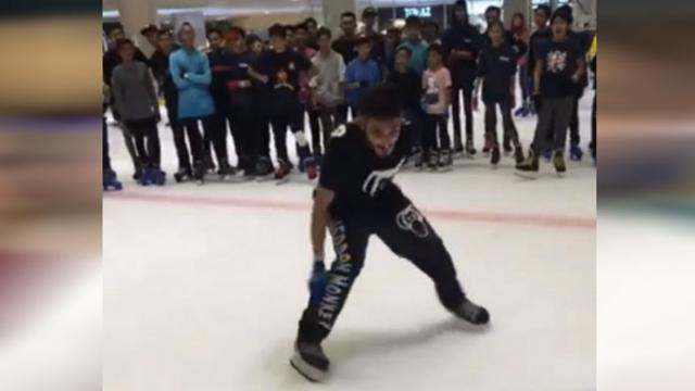 "Skater Dubbed ""The Ice King"" After Extreme Ice Stunts Blow Crowd Away"