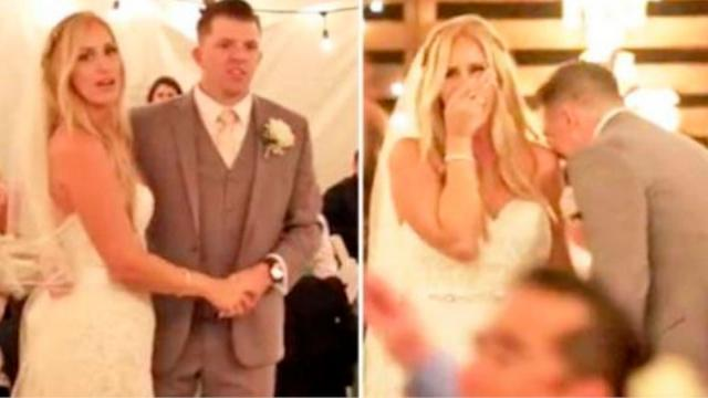 Bride  Groom Floored When Country Singer Secretly Shows Up During First Dance