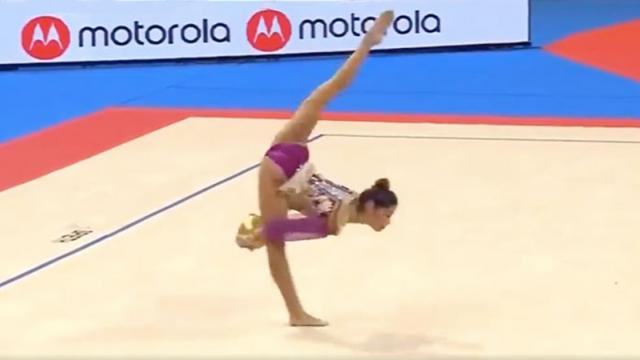 17-Year-Old Rhythmic Gymnast Wins Medal After Nailing An Epic