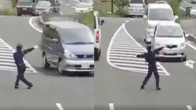 Traffic Cop Directs Cars With Slick Dance Moves & Motorists Can't Stop Laughing.