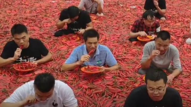 Chinese on fire at chili-eating festival