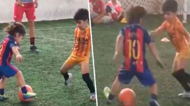 The 5-year- Old Super Kid Melts Peoples Hearts With the Football Performance Which Looks Like Mes