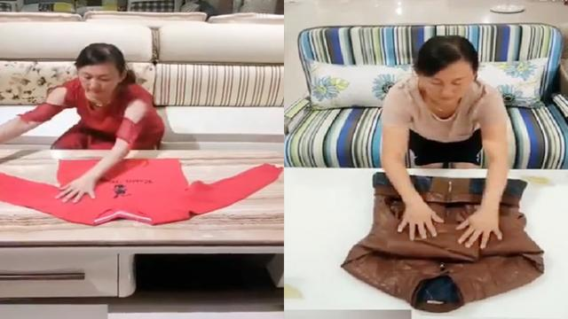 Watch How This Woman Folds And Organize Things Like A Pro!