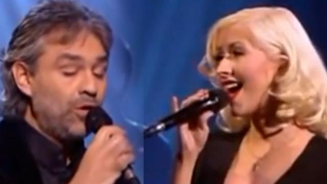 Andrea Bocelli And Christina Aguilera Sing Enchanting Duet Instantly Sparks Massive Applause