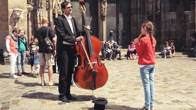 Little Girl Plays Flute For Cellist On Street, Moments Later Onlookers Are In Awe.
