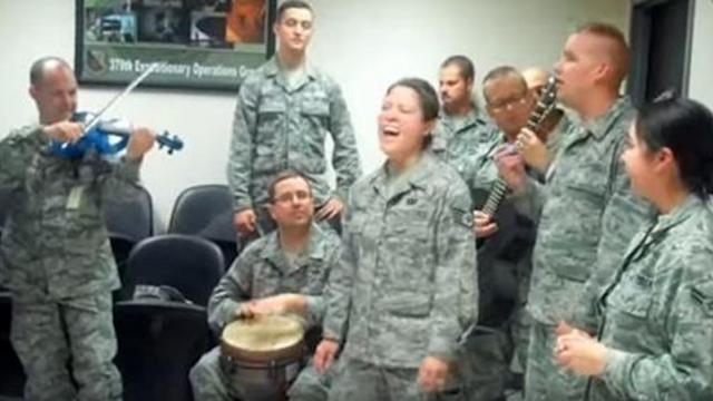 Adele, Jay-Z and Journey (Covers) by Deployed Airmen