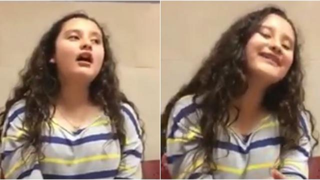 Esta niña interpreta I will always love you de Whitney Houston