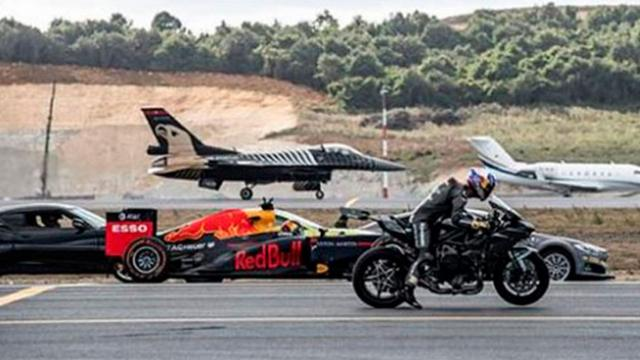 The Ultimate Race! Supercar, Superbike, F1 Car, Private Jet and Fighter Jet Go Head to Head... So Wh
