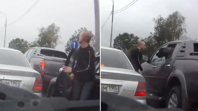 Man stuck behind car at rush hour has bone to pick with the