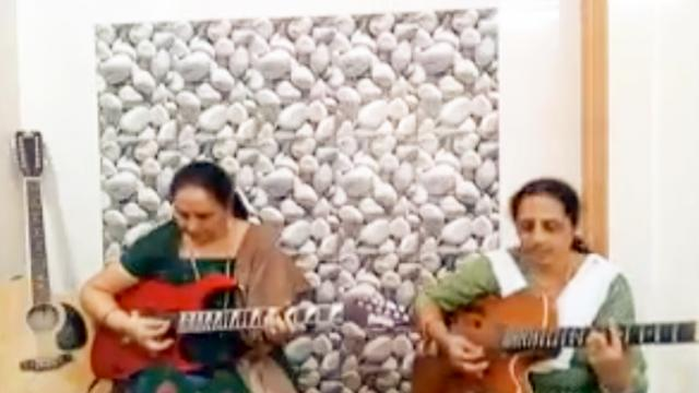 WATCH: These two aunties are killing it on the electric guitars; it can't get cooler than this!