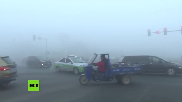 Una densa niebla invade el este y norte de China