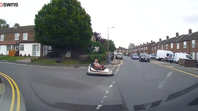 Man Spotted Casually Driving Fairground Dodgem On Road