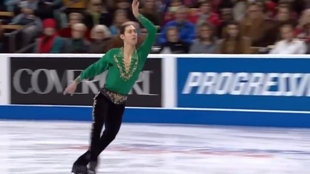 2014 US National Championships Jason Brown FS- Riverdance