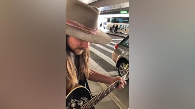 Lukas Nelson Performs Dad Willie's Hit For Unsuspecting Airport Goers