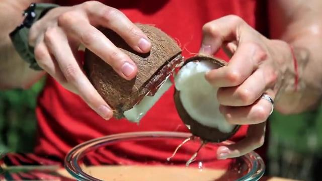 Food Hack - How To Open A Coconut