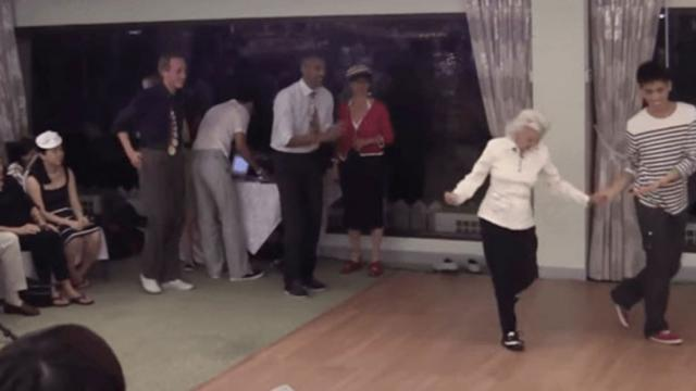 90 Year-Old Takes The Dance Floor  Leaves Everyone Stunned When Music Starts To Play