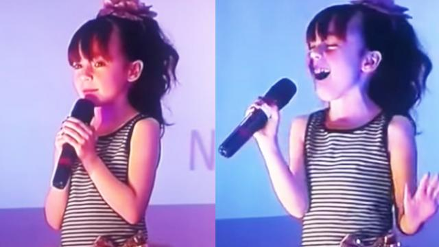 Little Girl Belts Whitney Houston Classic