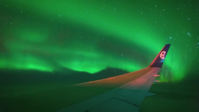 Take a flight through the aurora australis