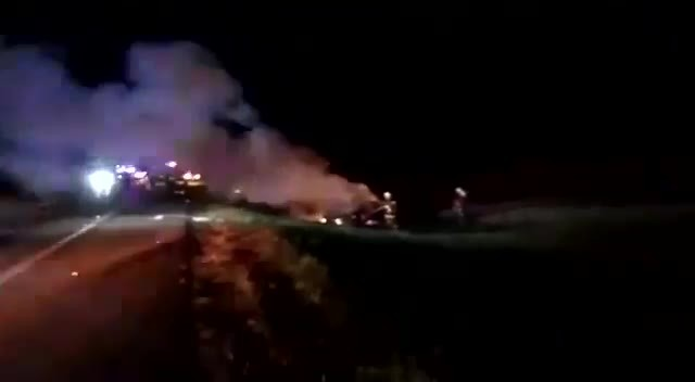 video del incendio del carro