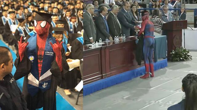 Law Student Dresses As Spider-Man To Accept His Degree